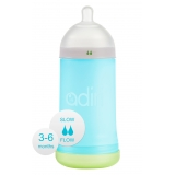 Бутылочка Adiri NxGen Slow Flow Blue (3-6 мес., 281 ml)