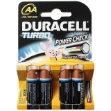 "Батарейки алкалиновые ""Turbo AA 1.5 V LR6"", 4 шт, DURACELL"