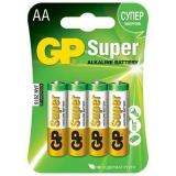 "Батарейки алкалиновые ""GP Super AA"", 4 шт, GP BATTERIES"